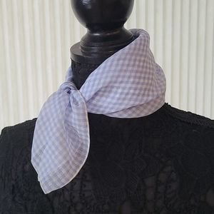 Baby Blue Checkered Square Scarf